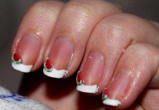 Френч на коротких ногтях - фото 11