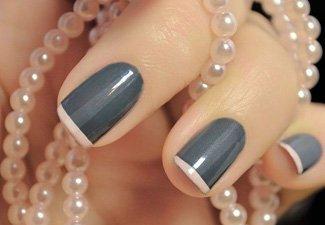 Френч на коротких ногтях - фото 12