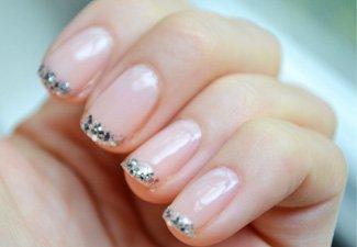 Френч на коротких ногтях - фото 17