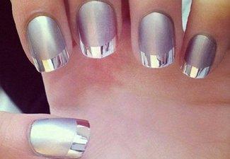 Френч на коротких ногтях - фото 18