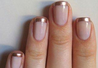 Френч на коротких ногтях - фото 21