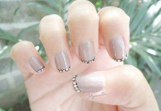 Френч на коротких ногтях - фото 22