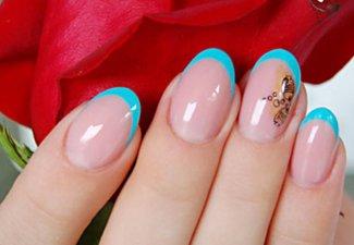 Френч на коротких ногтях - фото 23