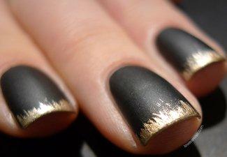 Френч на коротких ногтях - фото 29