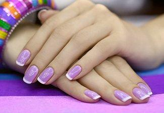 Френч на коротких ногтях - фото 31
