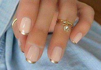 Френч на коротких ногтях - фото 37