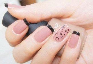 Френч на коротких ногтях - фото 41