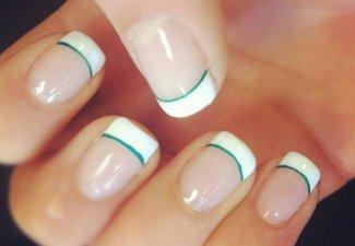 Френч на коротких ногтях - фото 42