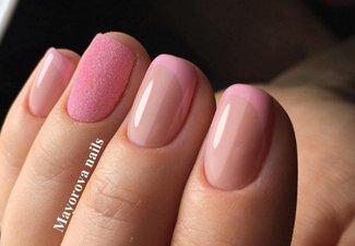 Френч на коротких ногтях - фото 43