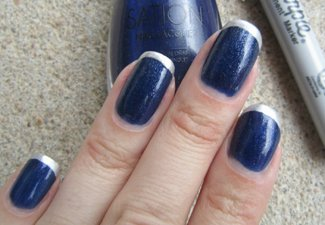 Френч на коротких ногтях - фото 45