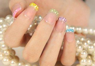 Френч на коротких ногтях - фото 47