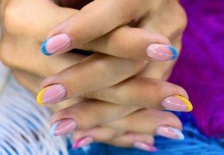 Френч на коротких ногтях - фото 48
