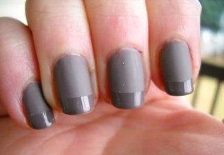 Френч на коротких ногтях - фото 5