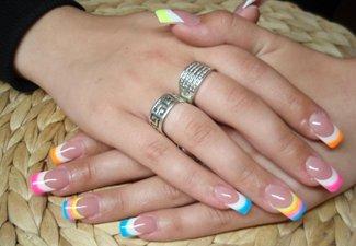"""Дизайн ногтей """"Цветной френч"""" - фото 10"""