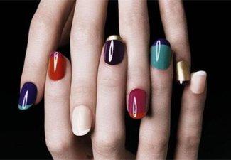 """Дизайн ногтей """"Цветной френч"""" - фото 13"""