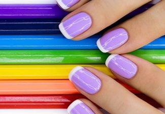 """Дизайн ногтей """"Цветной френч"""" - фото 16"""