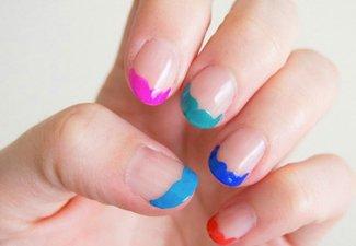 """Дизайн ногтей """"Цветной френч"""" - фото 17"""