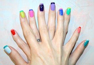 """Дизайн ногтей """"Цветной френч"""" - фото 18"""
