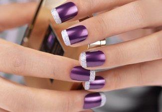 """Дизайн ногтей """"Цветной френч"""" - фото 19"""