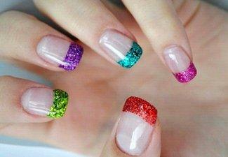 """Дизайн ногтей """"Цветной френч"""" - фото 2"""