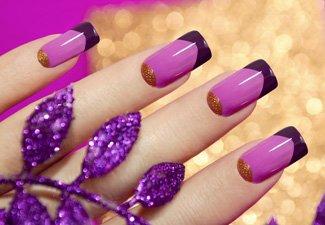 """Дизайн ногтей """"Цветной френч"""" - фото 20"""