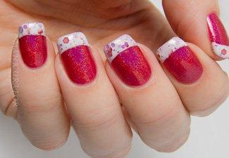 """Дизайн ногтей """"Цветной френч"""" - фото 21"""