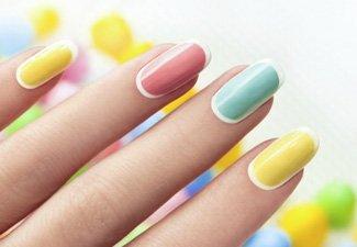 """Дизайн ногтей """"Цветной френч"""" - фото 22"""