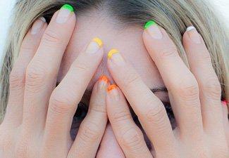 """Дизайн ногтей """"Цветной френч"""" - фото 24"""