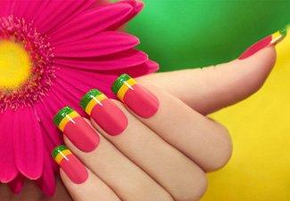 """Дизайн ногтей """"Цветной френч"""" - фото 25"""
