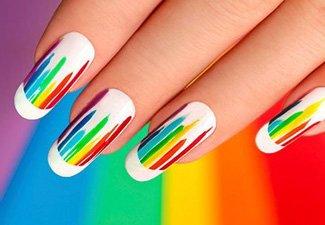 """Дизайн ногтей """"Цветной френч"""" - фото 26"""