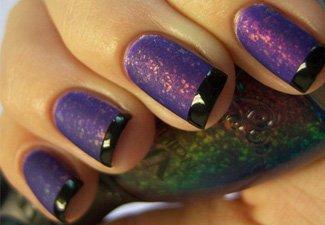 """Дизайн ногтей """"Цветной френч"""" - фото 27"""