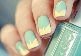 """Дизайн ногтей """"Цветной френч"""" - фото 28"""