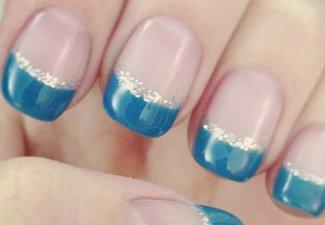 """Дизайн ногтей """"Цветной френч"""" - фото 3"""