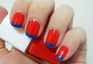"""Дизайн ногтей """"Цветной френч"""" - фото 4"""