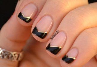 """Дизайн ногтей """"Цветной френч"""" - фото 5"""