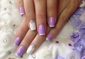 """Дизайн ногтей """"Цветной френч"""" - фото 6"""