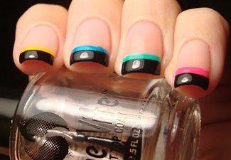 """Дизайн ногтей """"Цветной френч"""" - фото 7"""