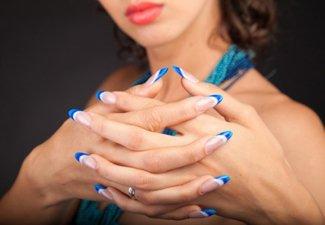 """Дизайн ногтей """"Цветной френч"""" - фото 9"""