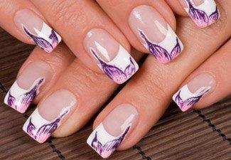 Дизайн ногтей френч со слайдерами - фото 12