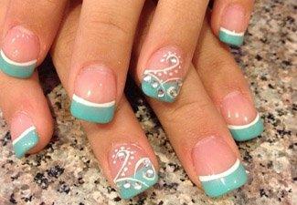 Дизайн ногтей френч со слайдерами - фото 14