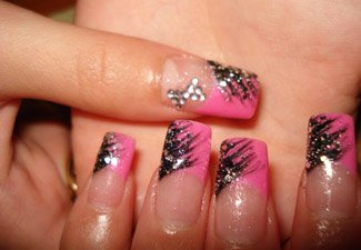 Дизайн ногтей френч со слайдерами - фото 18