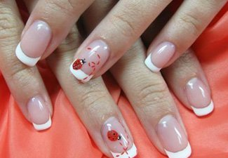 Дизайн ногтей френч со слайдерами - фото 19