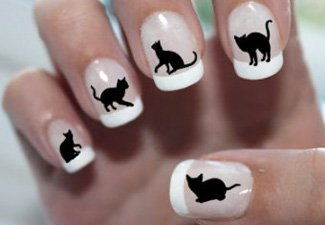 Дизайн ногтей френч со слайдерами - фото 22