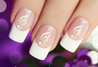 Дизайн ногтей френч со слайдерами - фото 23