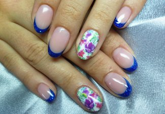 Дизайн ногтей френч со слайдерами - фото 28