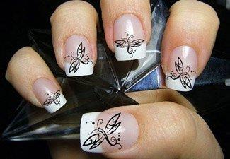 Дизайн ногтей френч со слайдерами - фото 4