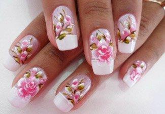Дизайн ногтей френч со слайдерами - фото 7