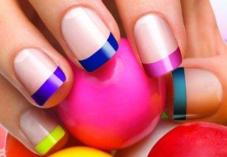 Неоновый френч в дизайне ногтей - фото 11