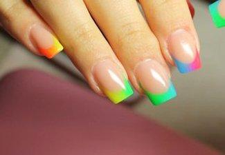 Неоновый френч в дизайне ногтей - фото 13