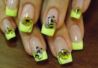 Неоновый френч в дизайне ногтей - фото 15